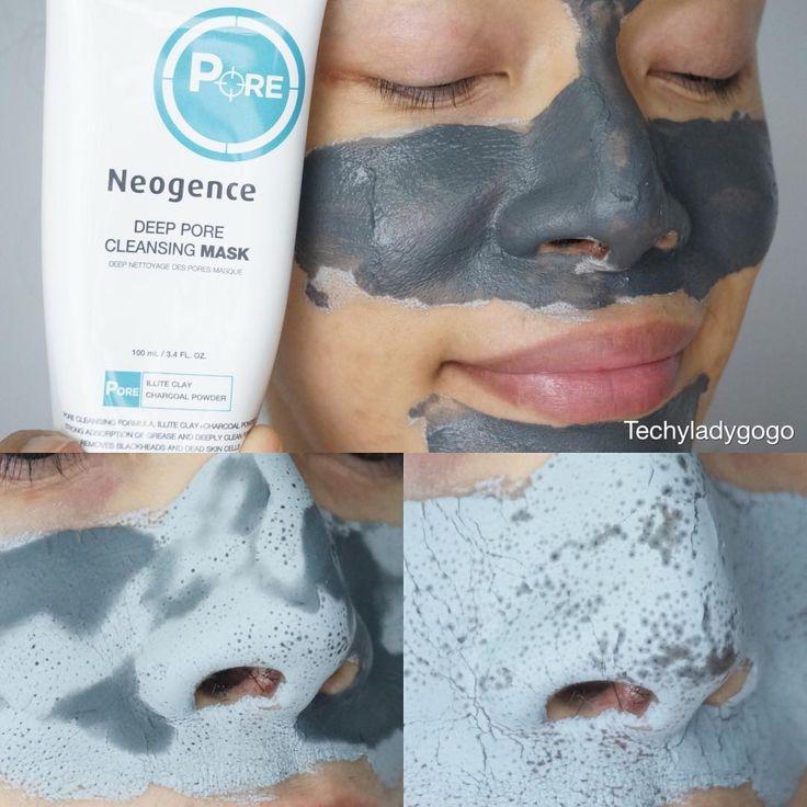 """Mask หน้าทั้งทีเอาให้เห็นไปเลยกับความมันที่ดูดขึ้นมา review Neogence deep pore cleansing mask โคลนดำจากไต้หวันดูดมันดีสุดสุดอ่านรีวิวได้ในบล็อกค่ะ…"""