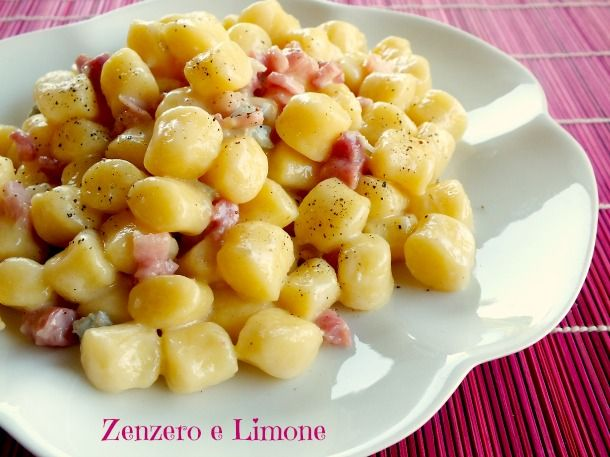 Chicche+al+gorgonzola+e+pancetta
