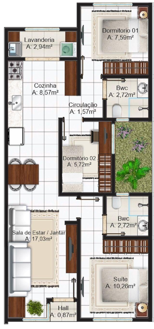 Mejores 60 im genes de planos de casas en pinterest for Casa clasica procrear terminada
