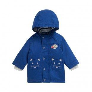 Imperméable bleu électrique Ehantoni - Les manteaux et imperméables - Garçon - Layette (3-24 mois) | Sergent Major