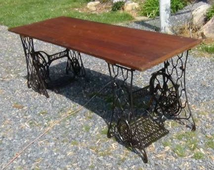 I am trying to make THIS table but with an old door for a table top. Anyone know where to find a good door? I have the Singer treadle bases already....