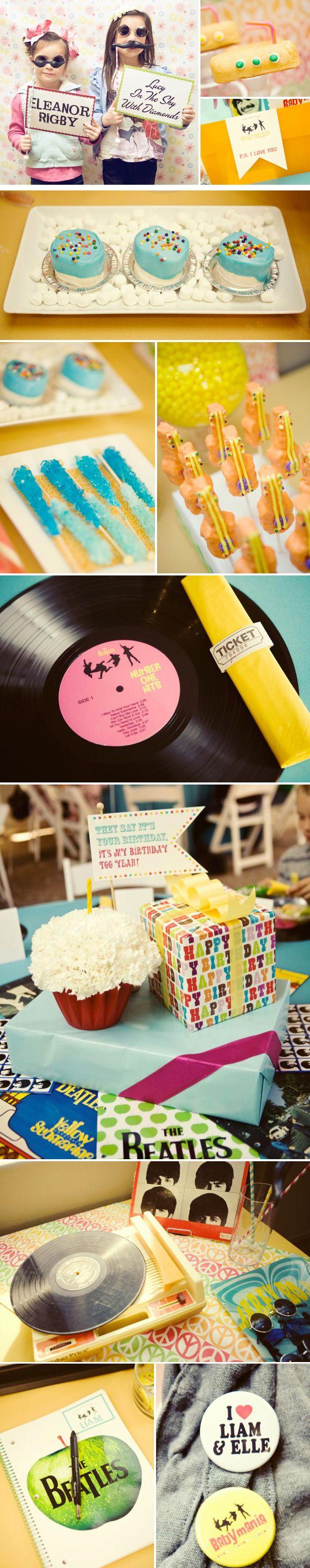 Gmail themes beatles - Beatles Birthday Party Theme