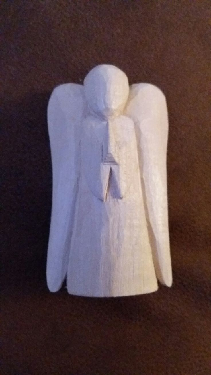 An Angel, 2nd attempt at whittling.