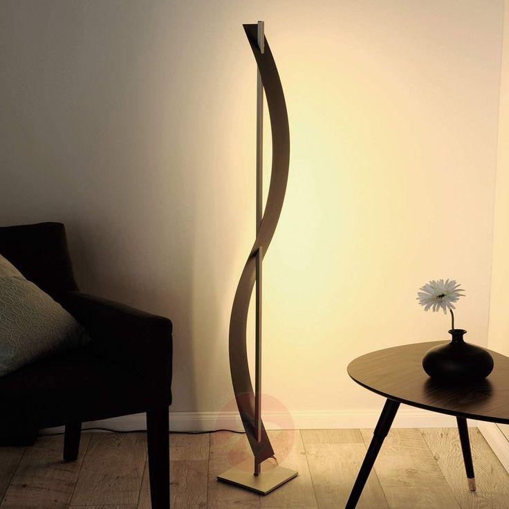 Bølgeformet LED-stålampe Talu, svart-6722056-30
