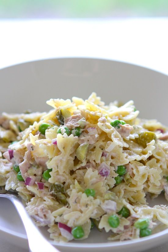 Tuna Pasta Salad with Dill & Peas - Lauren's Latest Recipe - this sounds really good to me, but then again, I love Tuna Salad and I love Pasta - so what's not to like!!!
