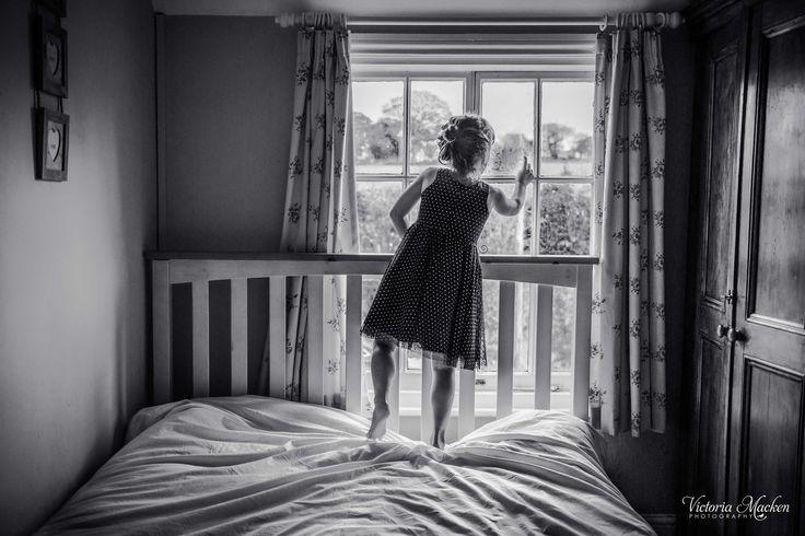 Making marks on the windowpane #childhood #mylittleladies