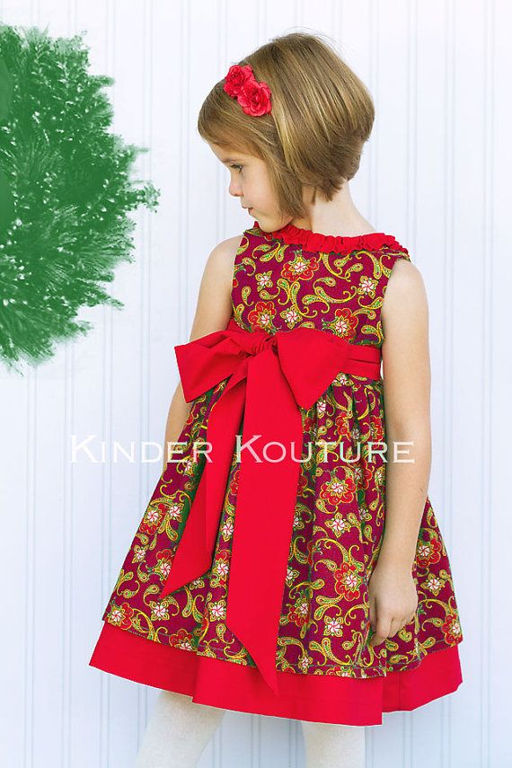 Holly Christmas Dress  Sizes 3mos2 by KinderKouture on Etsy, $60.00