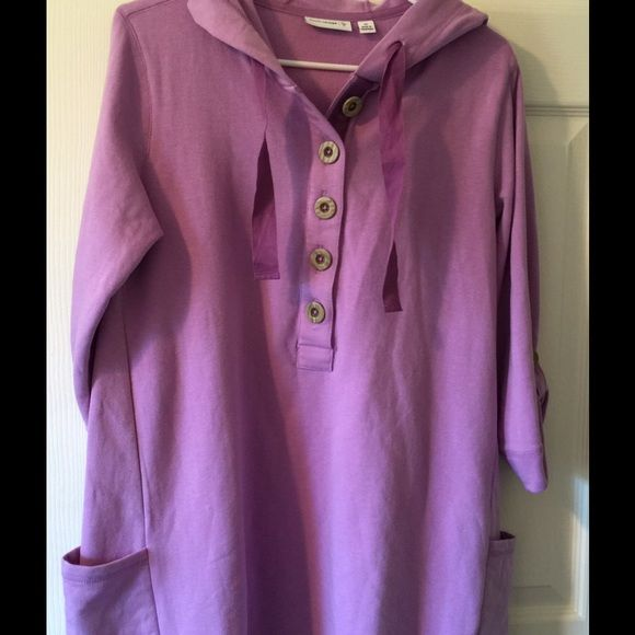 Susan Graver Lavender fleece hoodie NWOT size XS New without tags Lavender long fleece shirt with Hood. I would say fit XS-S. I think this brand is Sold on QVC Susan Graver Jackets & Coats