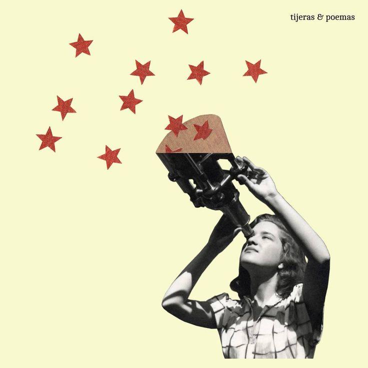 """Collage """"Vera Rubin"""" by Tijeras y Poemas (Ana Lorente).  #collage #tijerasypoemas"""