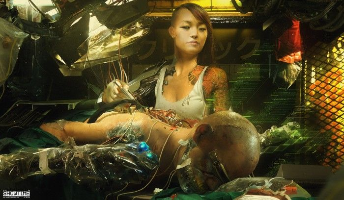 Cybernetic surgery Wallpaper Fantasy Science Fiction