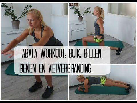 16 min. Tabata Workout Buik, Billen, Benen en Vetverbranding - YouTube