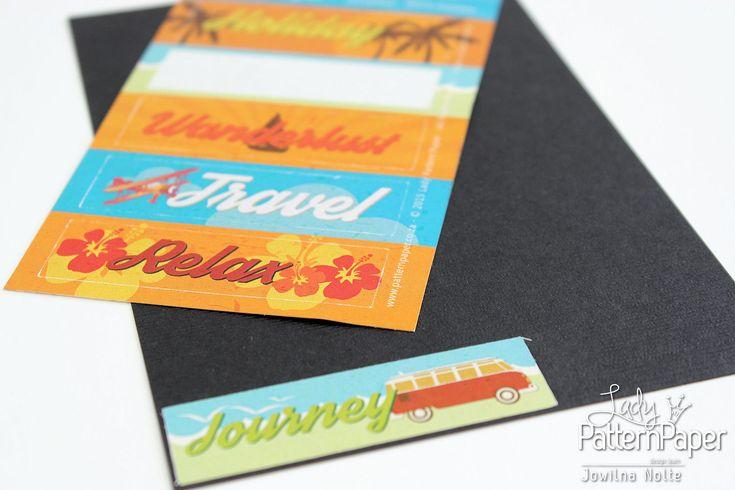 Retro Holiday Sticker Cards - Step 1
