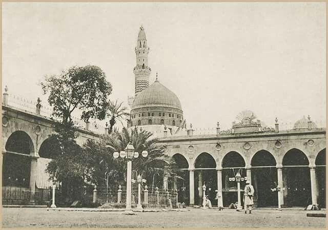 أقدم صورة للمسجد النبوى الشريف