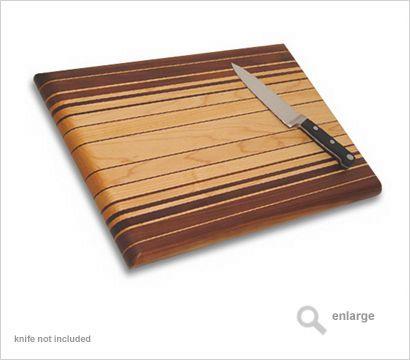 cutting board   Walnut and Maple fade pattern contemporary cutting board.