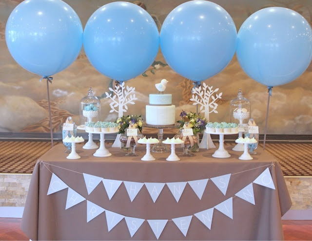 Boys christening table