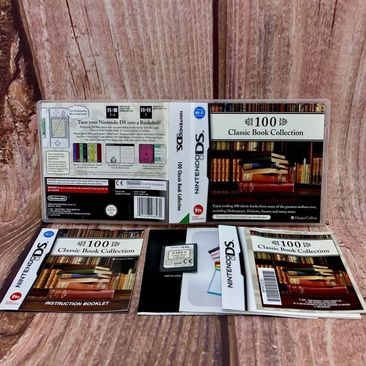 Nintendo DS game 100 Classic Book Collection complete Barely Used dsi xl lite