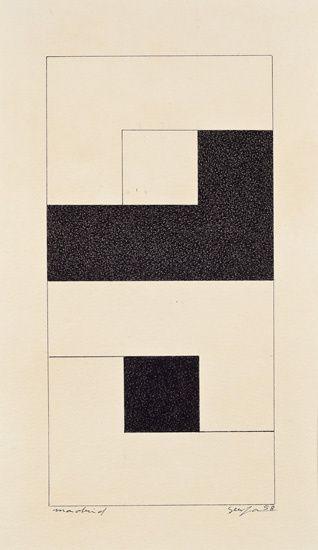 Mira Schendel, Untitled, 1955, Tempera on paper