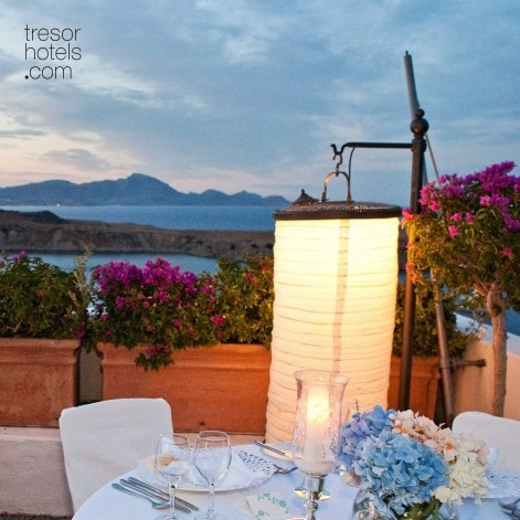 Trésor Hotels & Resorts_Luxury Boutique Hotels_#Greece_ At #Melenos #Lindos, the hotel's photogenic atmosphere  adds another dimension to 'the day'