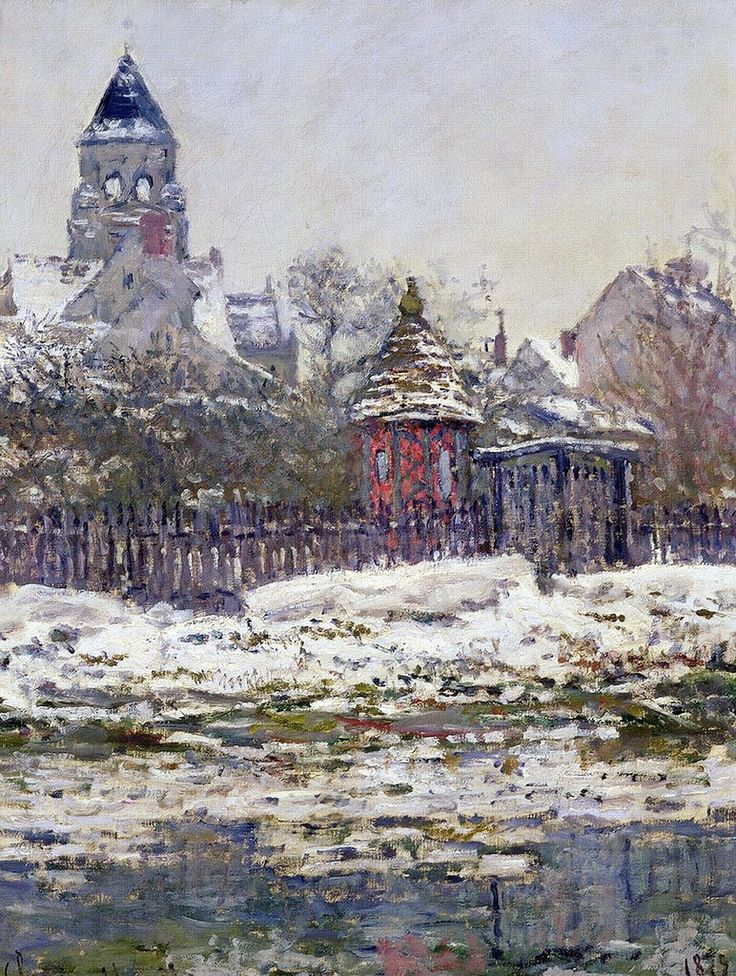 """ The Church of Vetheuil, Winter - Claude Monet 1879 """