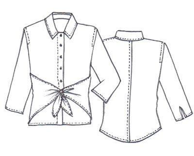Sew Tessuti Blog - Sewing Tips & Tutorials - New Fabrics, Pattern Reviews: NEW Audrey Shirt Pattern