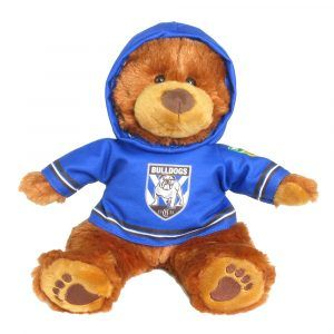 Bulldogs Plush Toys Supporter t-shirts with hood printed with team colours and logos