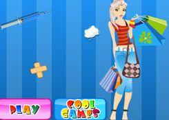 JuegosElsa.com - Juego: Cirugía Deportiva - Minijuegos de la Princesa Elsa Frozen Disney Jugar Gratis Online