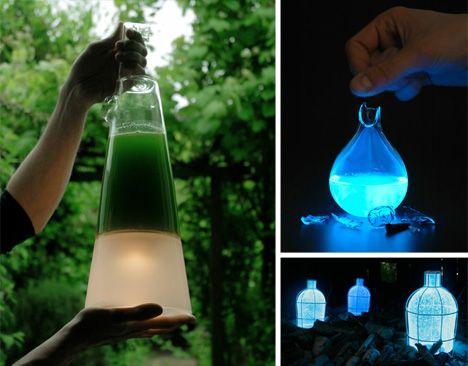 3 Eerie Eco-Friendly Lamps Fueled by Algae, Breath & Blood