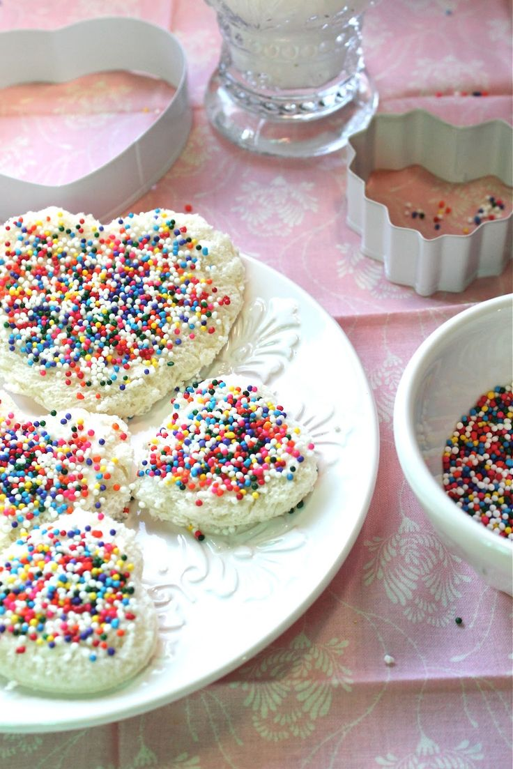 Fairy Bread ~ My kids look forward to VDay because that's the only time I make this... extremely easy and FUN!