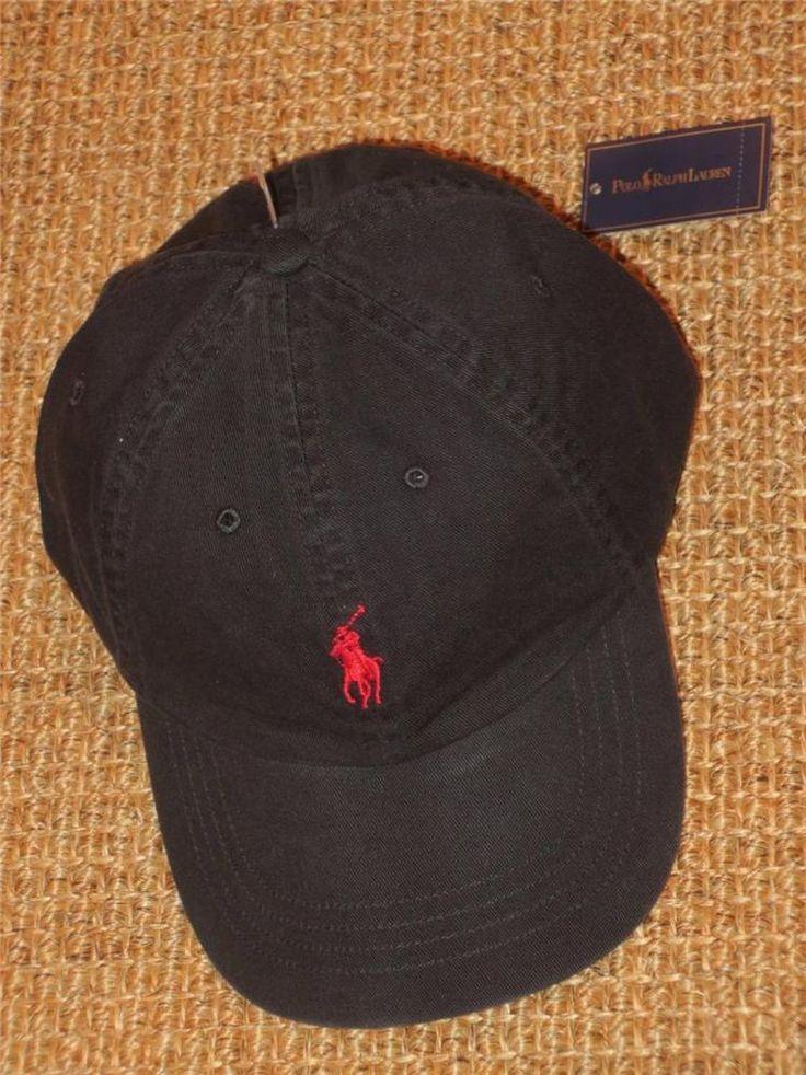 polo ralph lauren men 39 s baseball cap new nwt black. Black Bedroom Furniture Sets. Home Design Ideas
