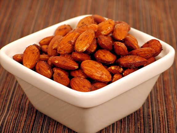 Roast your own almonds    -1 pound whole raw almonds  -1 teaspoon celtic sea salt  -Spread the almonds out in two 9x13     inch Pyrex baking dishes  -Bake at 350° for 10-12 minutes, until a nutty aroma wafts out of the oven  -Remove almond from oven and sprinkle with salt  -Cool for 1 hour