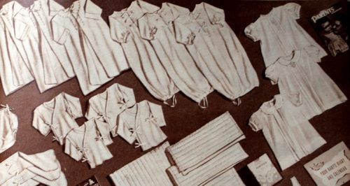 1950s baby layette set, children clothing