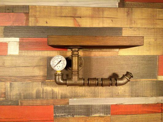 Ванная комната ручной работы. Ярмарка Мастеров - ручная работа. Купить Держатель туалетной бумаги с полочкой в стиле Лофт (Loft), Рустик. Handmade.