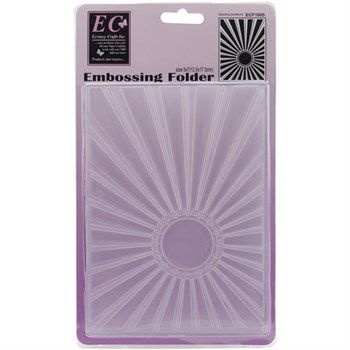 Ecstasy Crafts Embossing Folder - Dazzling Sunburst 5x7""