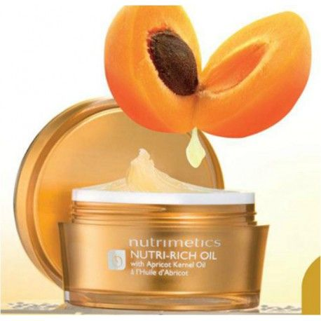 Nutrimetics Nutri-Rich Oil, 60ml Health-Beauty Nutrimetics Nutri-Rich Oil, 60ml. For combination to oily skin. More than 100 apricots in every 60ml jar. Skin up to 25% smoother. Skin Frimness & elasticity increase up to 38%.