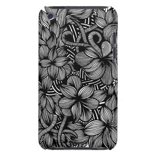 A unique Gardens #1 hand drawn art iPod case Barely There iPod Covers