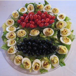 With the holidays coming up, I (and most likely you) am looking for new ideas to dress up the food I serve or take to parties. I would love to see your ideas. I will start with this deviled egg dish I did today for a friend's party. Show me yours!