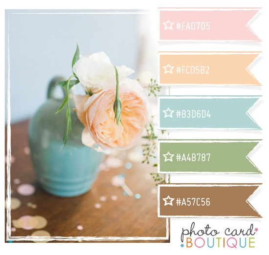 Color Crush Palette · 4.16.2012 - CTMH Baby Pink, Taffy, Crystal Blue (or maybe Juniper), Garden Green, Desert Sand