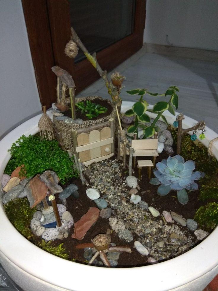 Fairygarden, minibahçe, el yapımı, doğa evimizde.