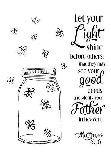 Matthew 5:16 ... Also Free Printable                                                                                                                                                     More
