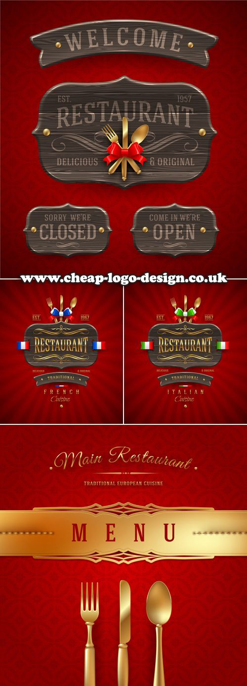 restaurant menu logo ideas www.cheap-logo-design.co.uk #restaurantlogos #menulogos #logodesign