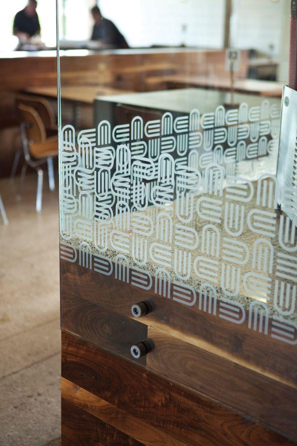 pin mounted panel corner detail  |  unforked restaurant