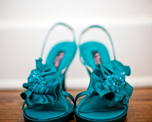 A Rustic Teal Wedding Obsessions The Knot