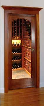 Classic Full Glass Wine Cellar Doors