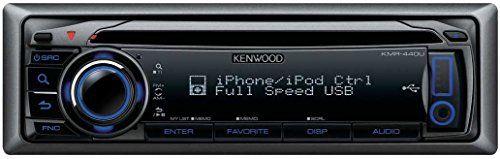 Receptor marino. MP3, WMA, AAC, CD, USB con control iPod. Unidad resistente al agua. Display 2 lineas. Iluminacion variable. USB y AUX frontales. Preparado para Bluetooth y para mando a distancia. Frontal extraíble. Radio AM/FM con 24 presintonías.                  Features  Potencia eléctrica de... http://altavocespara.com/coche/kenwood/kenwood-electronics-kmr-440u-sintonizador-de-cddvd-para-el-coche-radio-para-coche-87-9-107-9-mhz-530-1700-khz-24-bit-fluorescente-negro-5