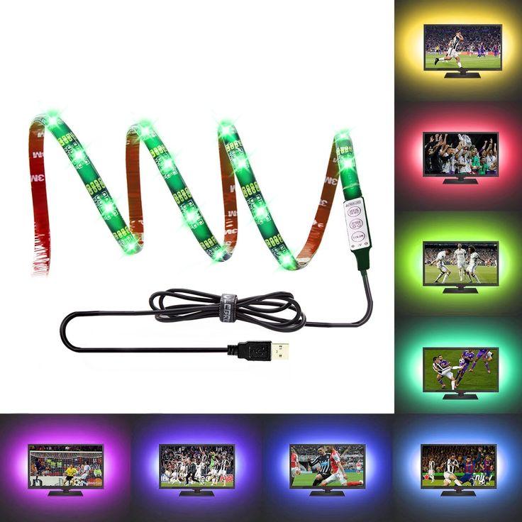 Superisparmio's Post Striscia LED 2m  Strisce LED USB LED TV Retroilluminazione Striscia 100cm(39Inch) 5V Alimentazione USB Illuminazione Bias per l'HDTV luce di striscia impermeabile del LED RGB per la HDTV e PC Monitor  Oggi la trovi a solo 7.64   http://amzn.to/2z4K61o