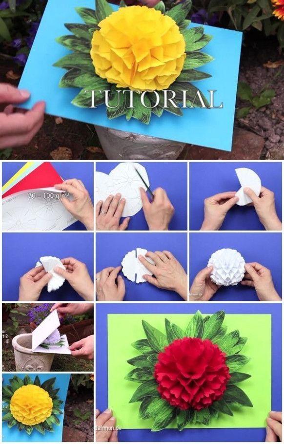 Pop Up Card Flower Tutorial Pop Up Card Flower Tutorial Pop Up Card Flower Tutorial Allowed For You T In 2020 Pop Up Flower Cards Flower Cards Pop Up Valentine Cards