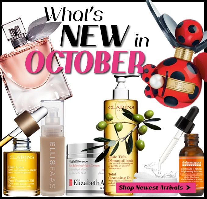 WHAT'S NEW THIS OCOTBER. new from ellis faas, lancome, chanel, clinique, marc jacobs and more @thebeautyclub