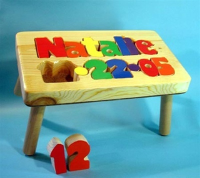 Personalized Puzzle step stool with name and birth date from tinykeepsakes.com #kids & 22 best Step Stools For Boys images on Pinterest | Personalized ... islam-shia.org