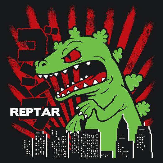 Reptar Rugrats T-Shirt Funny Cheap Tees TextualTees.com - 1