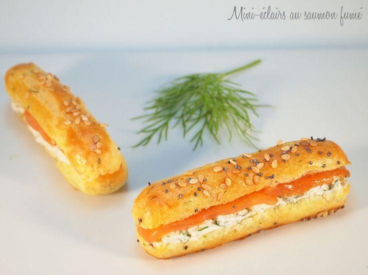 éclairs saumon fumée